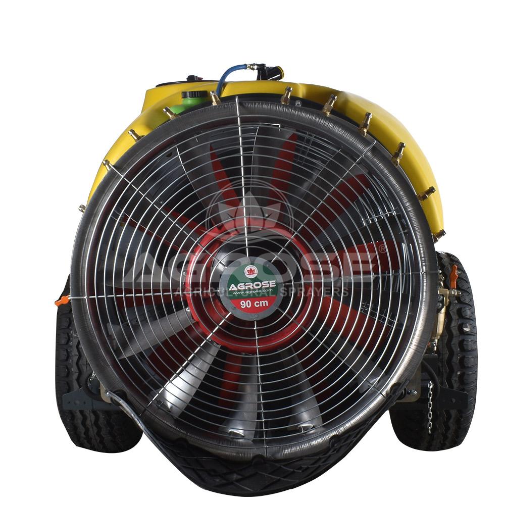 Прицепной Опрысливатель  С вентилятором  1600 литров 90 См.