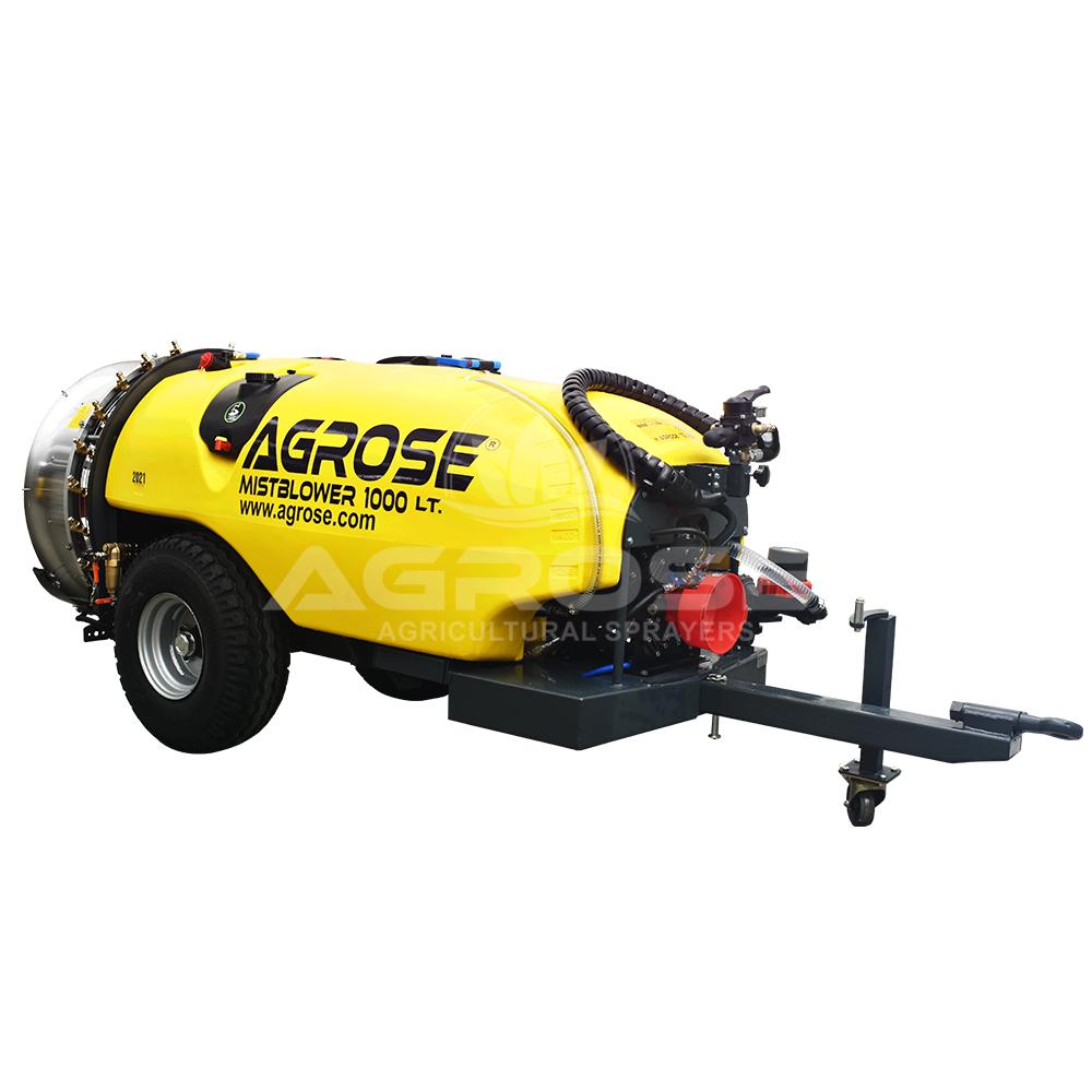 Trailed Type Turbo Atomizer 1000 Liter  90 Cm.