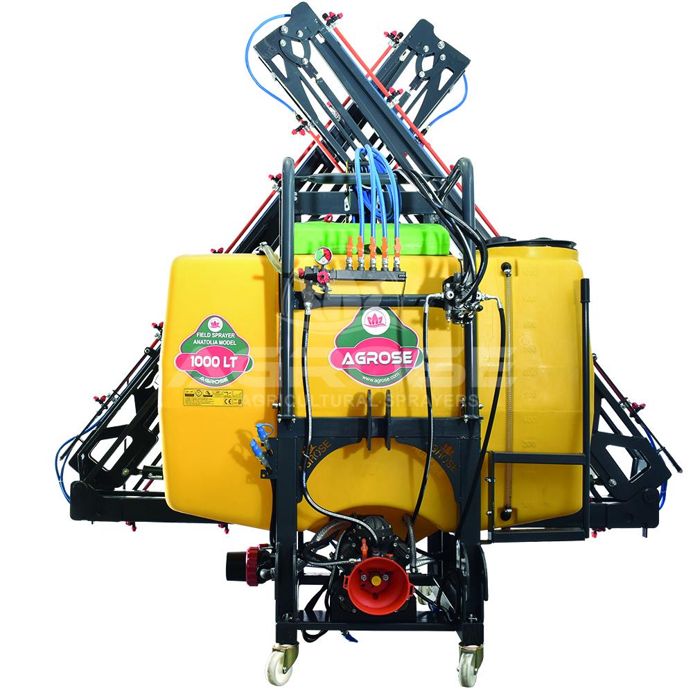 Asılır Tip Full Hidrolik  Anatolia Model Tarla Pülverizatörü 1000 Lt 15 Mt.Kanat